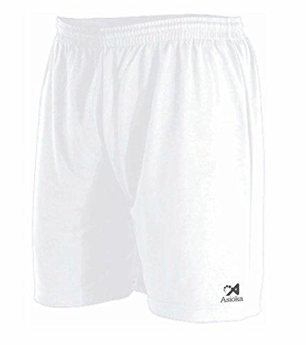Asioka 90 08 Pantalón Corto Técnico Deportivo, Unisex Adulto, Blanco, L
