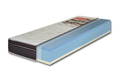 EcoDream - Materasso Memory Foam con Gel Rinfrescante, Singolo 80 x 190 - Alto 25 cm, Rigidità H2 Media, Refrigerante, Rivestimento Sfoderabile in Cotone Bamboo Antiacaro - Made in Italy