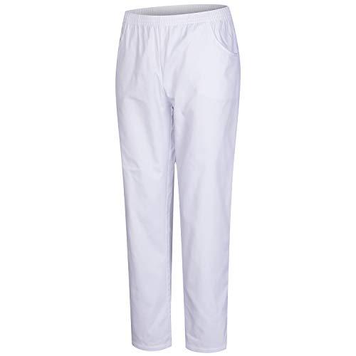 MISEMIYA - Pantaloni Unisex Vita Elastica Uniforme di Lavoro Clinica Ospedale Pulizia Veterinario IGIENE OSPITALITÀ - Ref.8312 - S, Bianco