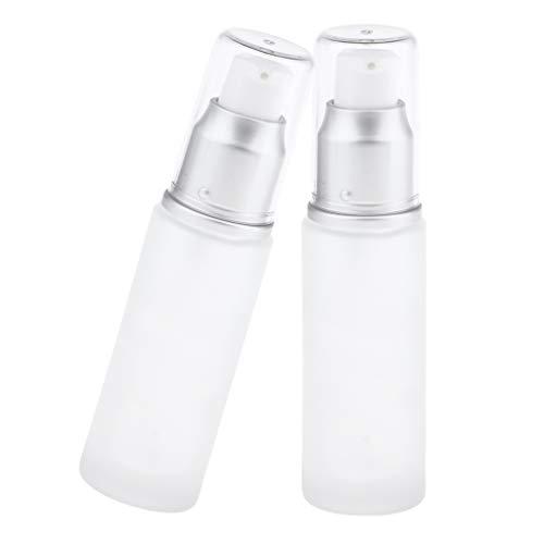 Bonarty 2pcs Flacon Vaporisateur Vide, Bouteille Spray pour Huiles Essentielles, Aromathérapie, Liquide, Lotion, Gel - 30 ML - Tête de pompe 30ML