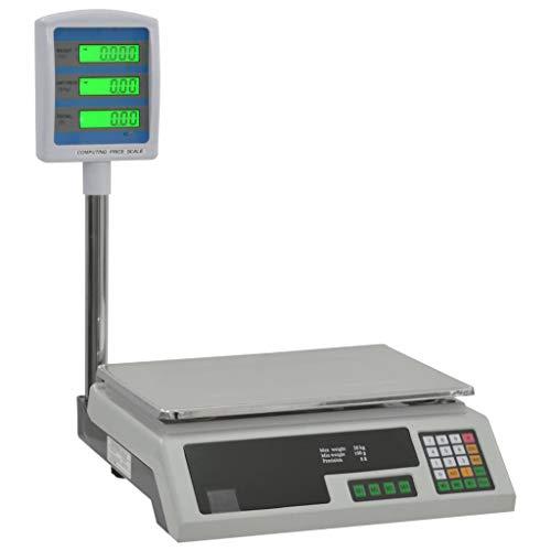 Festnight Elektronische Paketwaage mit LCD Wechselstrom-Adapter Praktische Haushaltswaage Digitalwaage für max. 30 kg