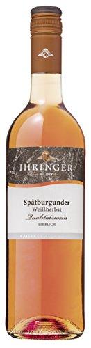 Ihringer Spätburgunder Weißherbst Qualitätswein lieblich 0,75 L, Artikel Nr. 90416, 1 Karton mit 6 Flaschen