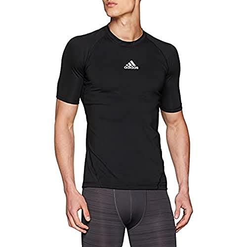 adidas Alphaskin Shortsleeve Tee T-Shirt, Uomo, Black, L