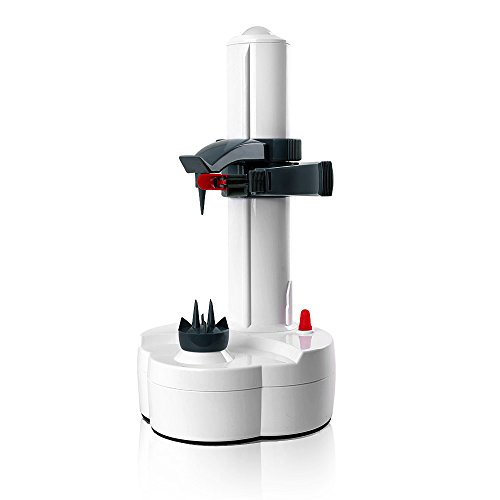 OGORI Multifunzione elettrico in acciaio inox Frutta Mela pelapatate sfogliatrice automatica (bianco)