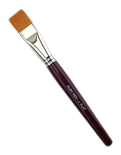 Ruby Red Jumbo Flat Brush, 3/4 inch