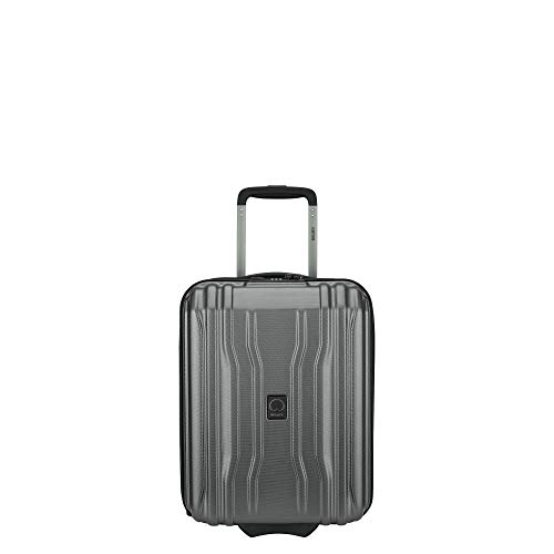 DELSEY Paris Cruise Lite Hardside 2.0 Luggage Under-Seater with 2 Wheels, Platinum, Carry-on 19 Inch