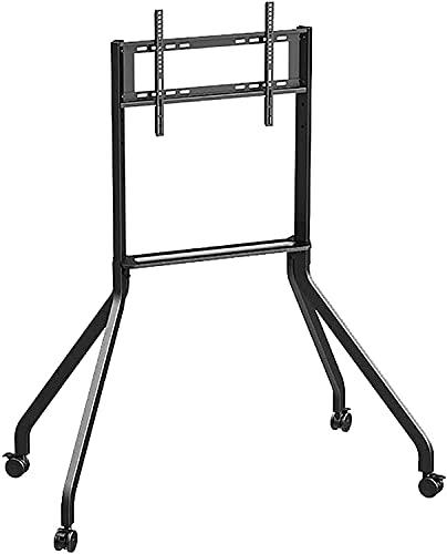 TabloKanvas Soporte de TV Soporte de TV Soporte de piso móvil Pantalla de publicidad Carro de conferencias Carro de TV portátil universal (color negro, tamaño: 42 – 65 pulgadas)