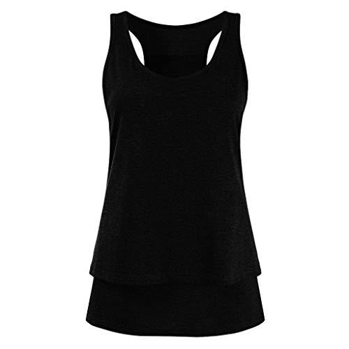 Damen Umstandsmode Stillshirt Stilltop,Frauen Mutterschaft Pflege Wickel Doppelschicht ärmellose Bluse T Shirt,Schwangerschaftsmode Stillkleidung Umstandsmode Günstig
