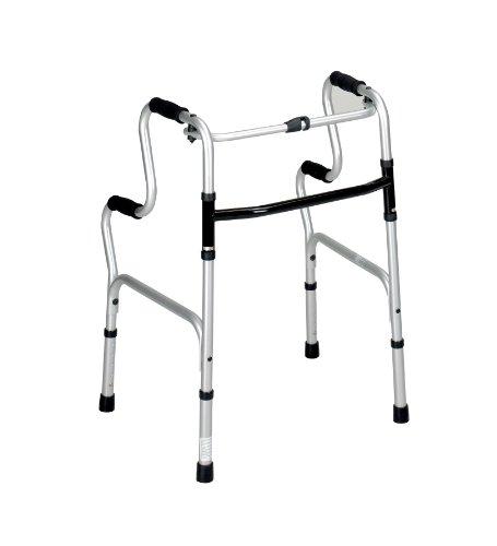 Hi-Riser Andador plegable (apto para la desgravación del IVA en Reino Unido), andador de bipedestación útil para levantarse del sofá o silla sin abrazaderas, estructura para inodoro