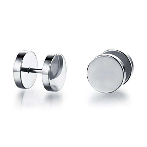Ouneed® Unisex 2pcs Clou Boucle d'Oreille Stainless steel (C)