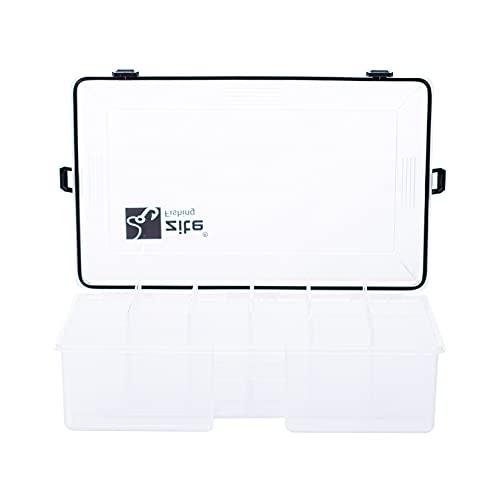 Zite Fishing Tackle-Box Wasserdicht 35x21x9cm - Kunstköder-Box Angelbox Tacklebox für Angel-Zubehör Hardbaits & Mehr