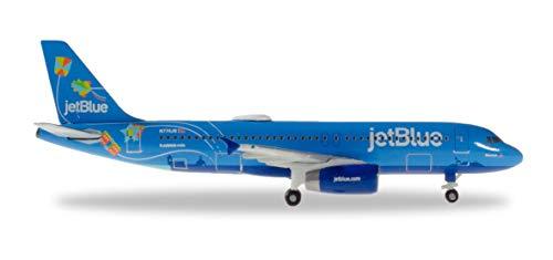 Herpa JetBlue Airbus A320, Miniatura Alas/Aviones para Recoger, Multicolor