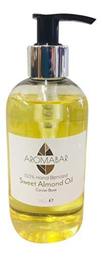 Aceite De Almendras Dulces 250ml Dispensador De Bomba Aromaterapia Aceite Base 100% Puro