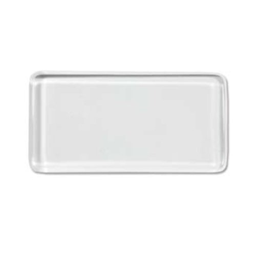 Clear Glass Tile Pendant Rectangles for Jewelry Making 24mm X 48mm By Craft Making Shop - 40 Pieces
