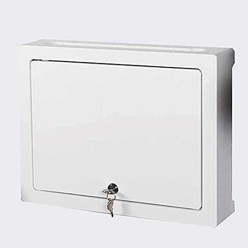 WOAIAI Caja de almacenamiento de enrutador WIFI Router Caja de almacenamiento colgante de pared Set-Top Box Estante Caja de corriente débil Caja de bloqueo multimedia