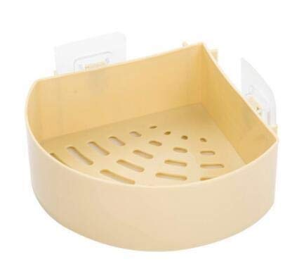 Stelling Organisator Muur douche plank Basket Badkamer Shampoo Holder-opslag keuken douche plank ZSP5171758 Planken (kleur: wit) XIUYU (Color : Yellow)