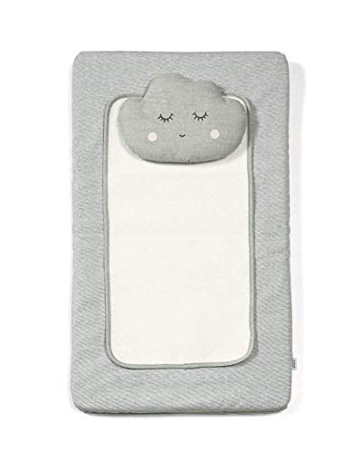 Mamas & Papas Luxury Baby Nappy Changing Mattress with Machine Washable Cover, Removable Towelling Insert & Detachable Pillow