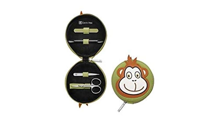 防水哲学的推測Zwilling Leather Monkey Design Children's Manicure Set, 4 pcs.