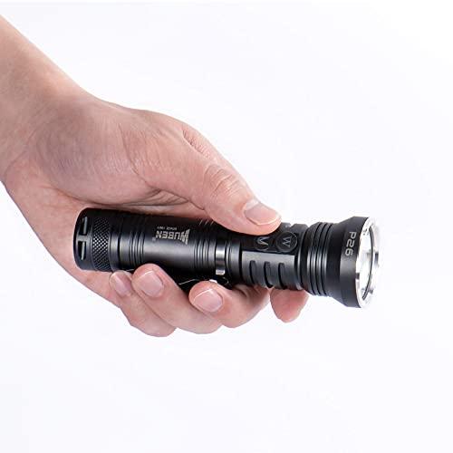 Linterna Táctica y UV 2 en 1, WUBEN P26 Alta Potencia Linterna UV Flashlight y Blanca 365nm UV Luz negra Luz de 500 LM Luz Ultravioleta Impermeable para Mascotas Detector de orina para mascotas