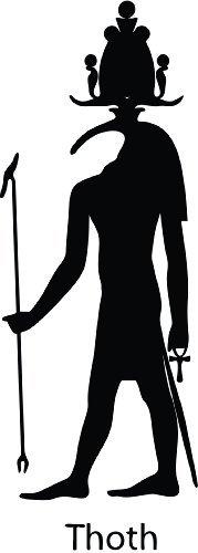 Thatvinylplace - Adesivo in vinile del dio egizio Sebek (Sobek), per auto, finestre, camera da letto, soggiorno (altezza 20 cm), colore: nero