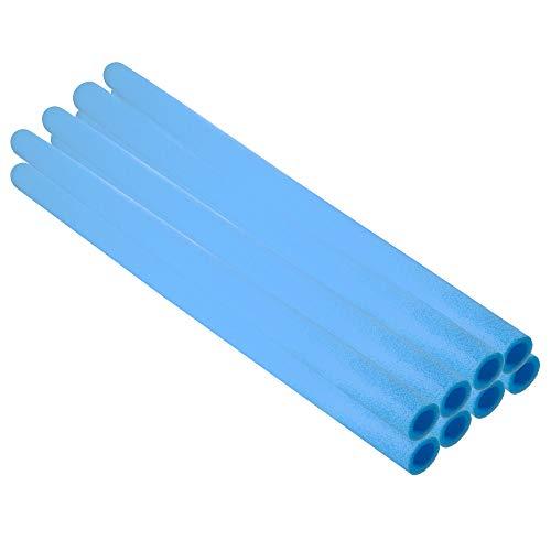 SPRINGOS Juego de 8 ruedas de espuma para cama elástica, color azul, 100 cm de largo, juego de protección de barras, acolchado tubular, postes de red de jardín (8 azules, 100 cm)