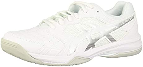 ASICS Men's Gel-Dedicate 6 Tennis Shoes, 12, White/Silver