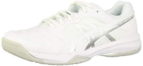 ASICS Men's Gel-Dedicate 6 Tennis Shoes, 12M, White/Silver