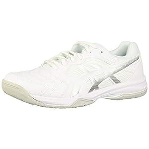 ASICS Men's Gel-Dedicate 6 Tennis Shoes, 10.5, White/Silver
