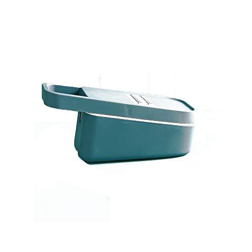 LHTCZZB Drenable blade de almacenamiento pelador de cocina Accesorios for máquina de cortar acero inoxidable 304 + PP Herramienta peladora de Gadgets de cocina adecuados for frutas y hortalizas Electr
