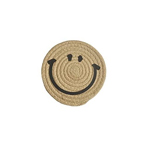 ABCABC Matada de algodón de algodón de algodón de solmanas Hechas a Mano 6 Colores Cuerda Trenzado placemat Almohadillas de Aislamiento Mesa de Mesa Cocina Decoración del hogar (Color : 12cm Jute)