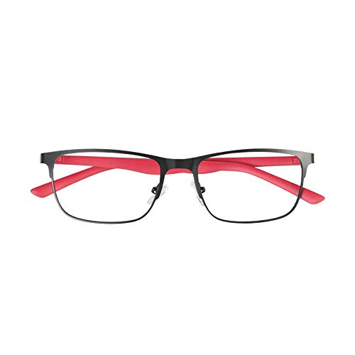 YGF121 BONOX ダルトン おしゃれ 老眼鏡 シニアグラ Reading Glasses (YGF120BKR BLACK_RED, 1.5)