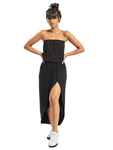 Urban Classics Damska sukienka z wiskozy w stylu bandeau, czarny, L