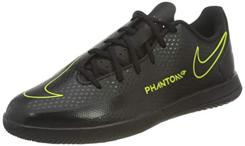 Nike Phantom GT Club IC, Zapatos de fútbol (IN), Black/Black-Cyber-Lt Photo BLU, 38 EU