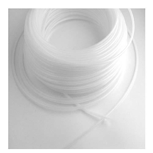10 Meter Keder Tube 6 mm Keder rund Meterware weiß-transparent stabiler - flexibler Kederschlauch