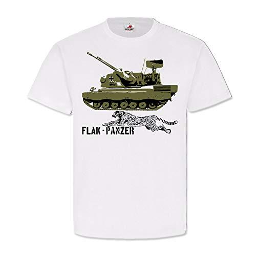 Bundeswehr Flak Panzer Gepard Bundeswehr Flugabwehrkanonenpanzer T Shirt #14497, Größe:XL, Farbe:Weiß