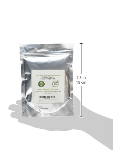 MatchaDNA USDA Organic Matcha Green Tea Powder Culinary Grade Powdered Matcha - High in antioxidants (4 Ounce)