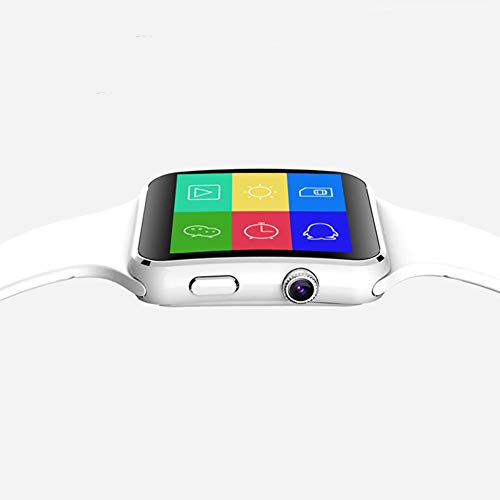 Rabusion Hot for Arc Screen Smart Watch Lumin X6 Smartwatch Camera Sim Card Bluetooth Wrist Decor Gifts white