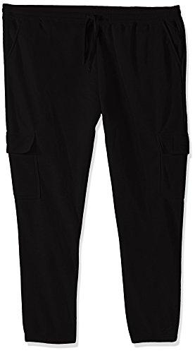 Southpole mens Active Basic Fleece Open Bottom Cargo Pants, Black Open Cargo, XXXX-Large US
