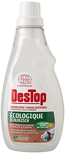 Destop Entretien Canalisation Ecologique, Prévient les Bouchons et Neutralise les Mauvaises Odeurs, 750 ml
