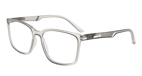 Eyekepper grandes lectores de marco bisagras especiales de primavera gafas de lectura hombres mujeres (Gris, 2.50)