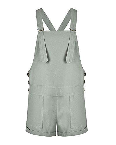 Femmes en Vrac Baggy Jambe Large Ripped Shorts Shorts Combinaisons Barboteuses Salopette,Light Gray,S