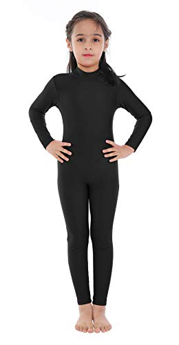 Kids Girls Turtleneck Long Sleeve Unitards One Piece Spandex Full Body Catsuit Dance Leotard Costume - http://coolthings.us