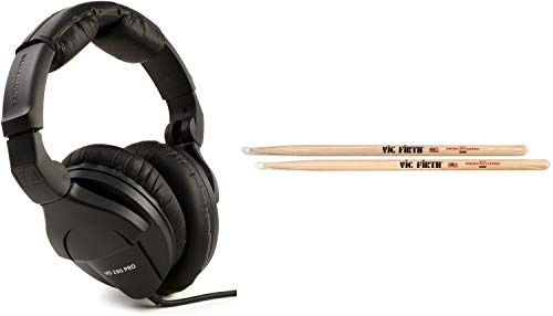 Sennheiser HD 280 Pro Closed-back Studio and Live Monitoring Headphones + Vic Firth American Classic Drumsticks - 5A - N