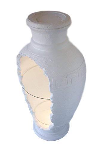 Amphorenvitrine Vitrine mit Beleuchtung Glasvitrine Vitrinenschrank Möbel Amphore Stilmöbel Ägypten Breite52xTiefe52xHöhe102cm