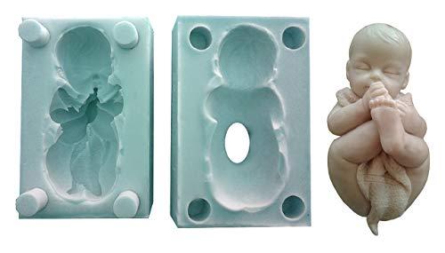 Inception Pro Infinite - Neugeborenes Baby Silikonform - Decke - Seife - Gips - Weihnachten und Geburtstag Geschenkidee - Harz - Silikonformen - Handwerk Schimmel