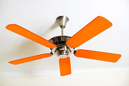 Fancy Blade Ceiling Fan Accessories Blade Cover Decoration, Neon (Neon Orange)