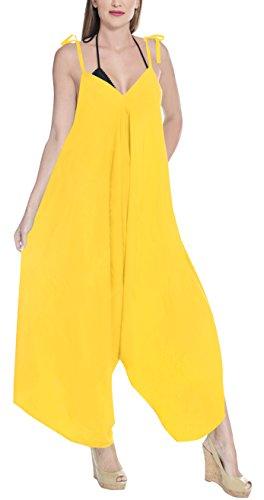 Vestido amarillo largo casual para mujer. Amplio y suetlo