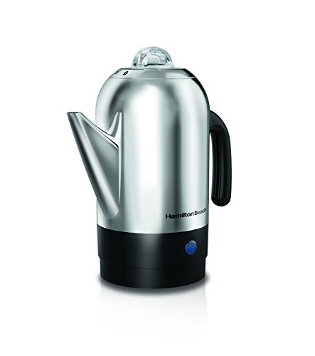 Hamilton Beach 40621R 8 Cup Stainless Steel Percolator, Silver, 1