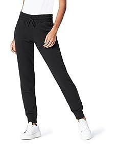 find. Hose Damen für Jogging aus Baumwoll-Jersey, Schwarz (Black), 38 (Herstellergröße: Medium)