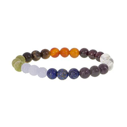 Garaulion - Pulsera de piedra natural para litoterapia, 8 mm, para mujer, hombre, joyas con piedras preciosas, 30 modelos, ideal como regalo, amor, amor, vitalidad, San Valentín